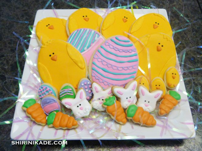 Easter cookies -- Royal icing can produce lovely Easter cookies, or cookies for any theme.