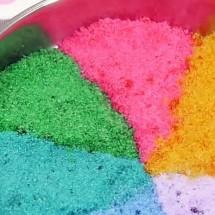 شکر و نمک و پودر نارگیل رنگی رنگی