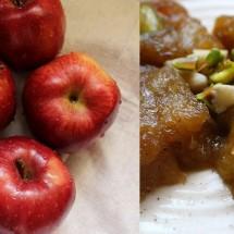 آموزش تصویری طرز تهیه حلوایِ سیب