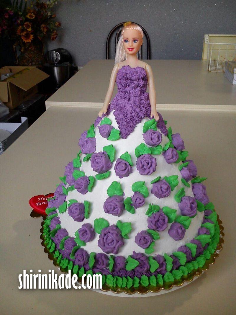 کیک تولد باربی ( مخصوص دختر کوچولوهای نازتون )