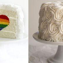 طرز تهیه کیک سورپرایز قلب رنگین کمانی