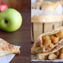 آموزش تصویری طرز تهیه شیرینی رول سیب