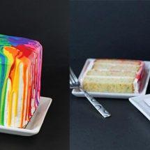 آموزش طرز تهیه کیک رنگین کمانی